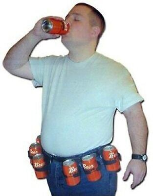 Adult Drinking Party Six Pack Adjustable Beer Soda Pop Cans Bottles Costume Belt