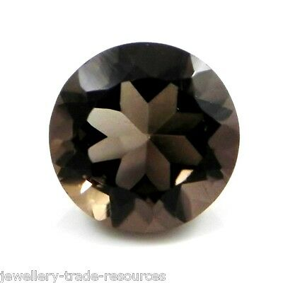 9mm ROUND NATURAL SMOKEY QUARTZ GEM GEMSTONE