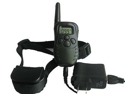 Rechargeable LCD 100LV Level Shock  Vibra Remote Pet Traning Collar For 1 Dog