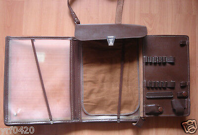 USSR CCCP Soviet Army Officer Leather Map Documents Bag Case