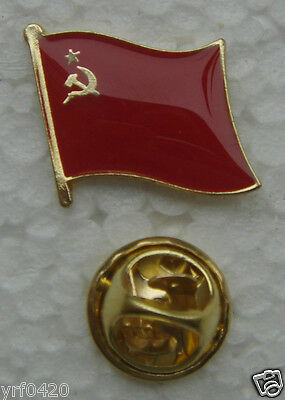 VINTAGE USSR CCCP Soviet National Flag Lapel Pin