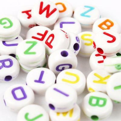 500pcs 112595 Wholesale Print Letters Mixed Acrylic Spacer Beads Charms Fit DIY