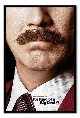 Framed Anchorman 2 Teaser Poster Ready To Hang - Choice Of Frame Colours