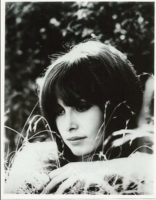 The Girl from U.N.C.L.E. Stephanie Powers Close Up Sitting in Grass 8 x 10 Photo
