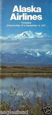Airline Timetable - Alaska - 15/05/77 - Mt. McKinley Cover
