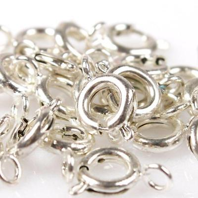 50pcs New Charms Necklace Lobster Clasps Findings Fit Jewelry Making 3 Colors