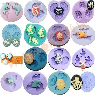 16 kinds Silicone Mould for Polymer Clay Candy Cake Decorating Fondant Chocolate