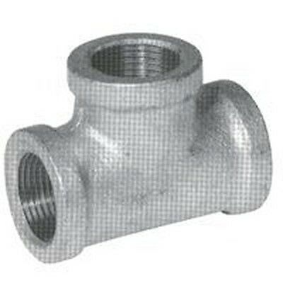 New Lot (10) 1 Inch Galvanized Pipe Threaded Tee Fittings Plumbing 6101497