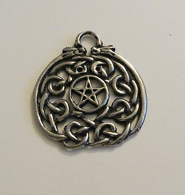 Pentacle Pendant Charm W/celtic Knotwork Pagan/wicca Celtic Witch Jewelry Crafts