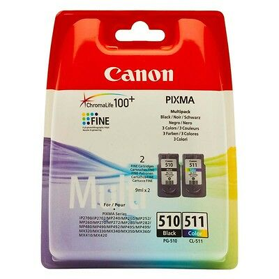 CARTUCCIA CANON Multipack PG 510+CL 511 ORIGINALI MP250 MP260 MP270 MP280