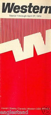Airline Timetable - Western - 01/03/74
