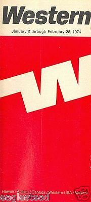 Airline Timetable - Western - 06/01/74