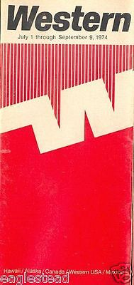 Airline Timetable - Western - 01/07/74