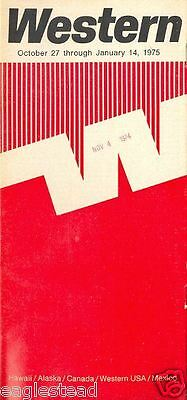 Airline Timetable - Western - 23/02/75