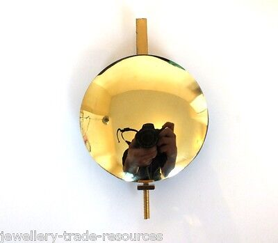 "4"" Brass & Lead Clock Pendulum Bob + Brass Fitting Grandfather Longcase Spares"