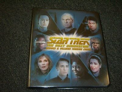 Star Trek The Next Generation Heroes & Villains Album / Binder with Promo P3 TNG