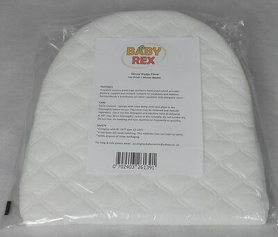 Baby Breath Easy Sleep Wedge Pillow - Pram Moses Basket Crib -Helps Colic Reflux