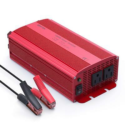 BESTEK 1000W Car Power Inverter 12V DC to 110V AC Charger Power Supply Adapter