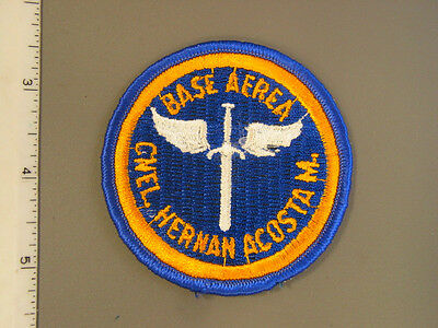 USAF Base aérea Coronel Hernan Acosta Mejia Training patch, new never issued