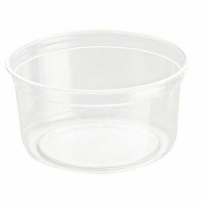 50  Clear Container & Lids DM12  (354ml) 12oz Deli Pots  Pasta Chutney Olives