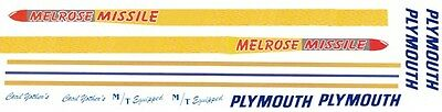 Cecil Yother's MELROSE MISSLE Plymouth GTX 1/25th - 1/24th Scale Decals