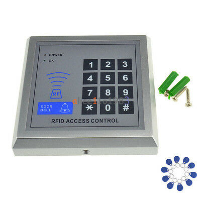 Security RFID Proximity Entry Door Lock Access Control System 500 User +10 Keys