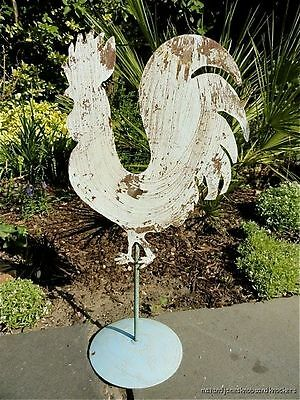 Antique Style Wrought Iron Rooster Cockerel Weathervane Ornament Folk Art B3