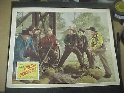 HILLS OF OKLAHOMA, orig 1950 LC #6 (Rex Allen, Fuzzy Knight) -- at oil well