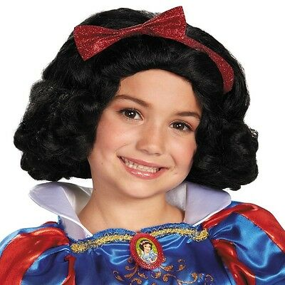 Child Movie Disney Princess Snow White & The Seven Drarfs Black Hair Costume Wig