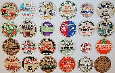 Vintage MILK BOTTLE CAPS Lot of 24 different mix number 13 unused new old stock