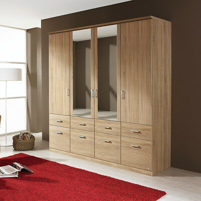 steens kleiderschrank 4 trg axel fronten massiv natur lackiert mit spiegel eur 375 00. Black Bedroom Furniture Sets. Home Design Ideas
