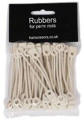 Perm Curler ROUND Bands Rubbers For Perm Rods Long Pack of 50 Fits All Size Rods