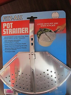 Pot Strainer Fitz-All Brand  #974  Fits Pots, Pans, Bowls  NEW in package