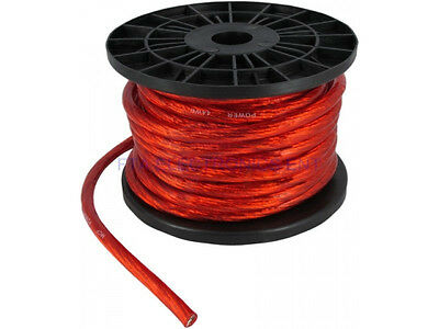 20FT 4GA 4AWG CCA Red Power Cable Wire Heat Resistance for Sound Car Audio AMP