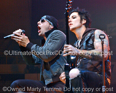 AVENGED SEVENFOLD PHOTO SYNYSTER GATES M SHADOWS Concert Photo by Marty Temme 2