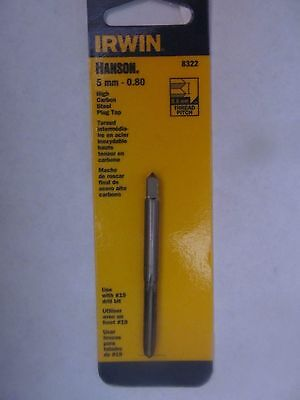 Irwin-Hanson 5mm-0.80 Plug Style Tap  #8322ZR  Made in USA  NEW