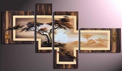 4pc Modern abstract art OIL Paintng on Canvas (NO FRAME)