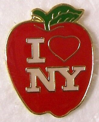 Hat Lapel Push Pin Tie Tac City I Love New York The Big Apple NEW