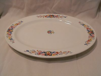 Edwin M. Knowles China Company Oval Platter Semi Vitreous Floral  41-8  U.S.A.
