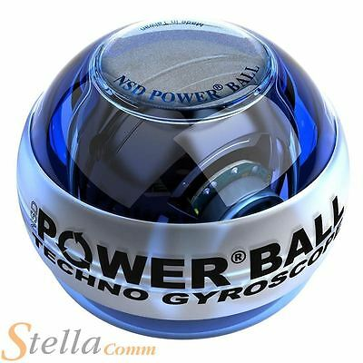NSD Blue Techno Powerball Fitness Gyro Gyroscope Power Ball