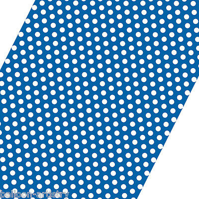 5ft Roll BLUE White Polka Dot Spot Style Party Gift Wrap Wrapping Paper