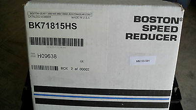 "Boston Gear Speed Reducer BK71815HS, H09638 new box,  7/8"" shafts"