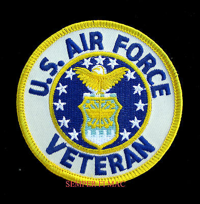 Us Air Force Veteran Hat Patch Usaf Vet Usa Pin Up Wing Pilot Crew Gift Usaf Wow