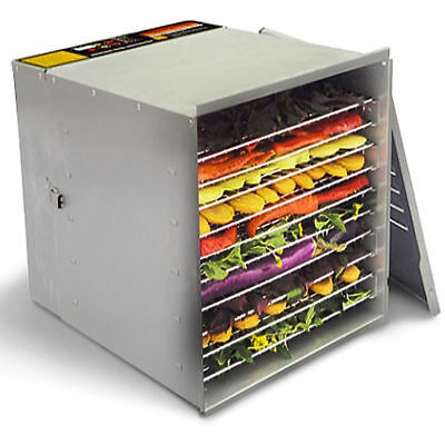 Commercial Grade 10 Tray 1200W Food Dehydrator STAINLESS STEEL - FREE SHIPPING!