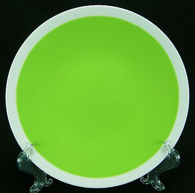 Noble Excellence Lime Salad Plate   Green UTENSIL MARKS!