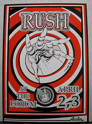 Rush Original 13x18 Concert Poster Los Angeles The Forum April 2-3,1990 Rare