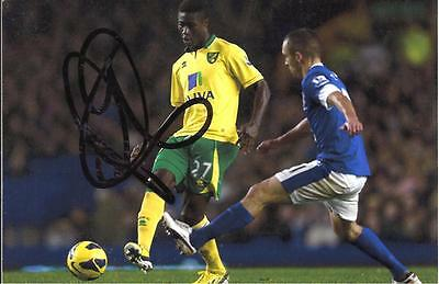A 6 x 4 inch photo Personally Signed by Alex Tettey of Norwich City