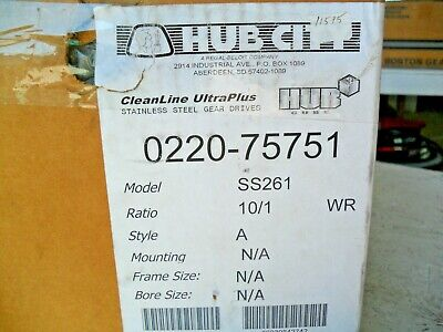 Hub City CleanLine Ultra Plus 0220-75751 Gear Box Model SS261 Stainless  10/1
