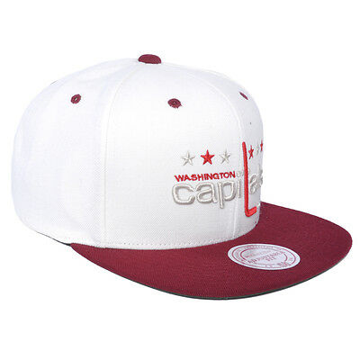 Mitchell & Ness Washington Capitals NHL Strapback Cream Off White Burgundy