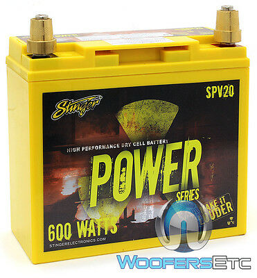 Stinger Spv20 Car 12V 300 Amp Agm High Performance Dry Cell Battery 600W New